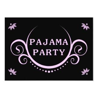 elegant pajama party invitation