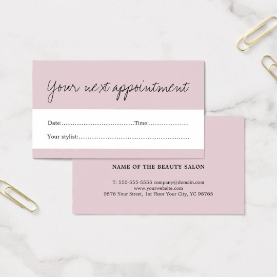 Elegant Pale Purple White Beauty Appointment Card