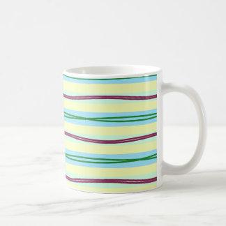 Elegant pale stripes with bold wavy accent coffee mug