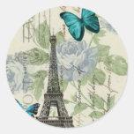 elegant paris vintage butterfly eiffel tower