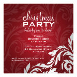 Elegant Party Invitation Swirly Flourish Red