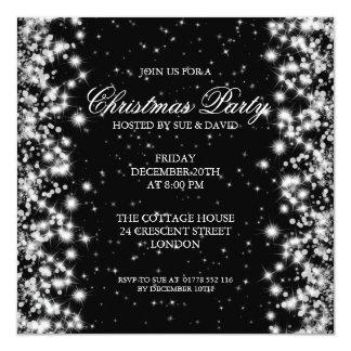 Elegant Party Sparkle Black Card