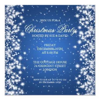 Elegant Party Sparkle Blue 13 Cm X 13 Cm Square Invitation Card