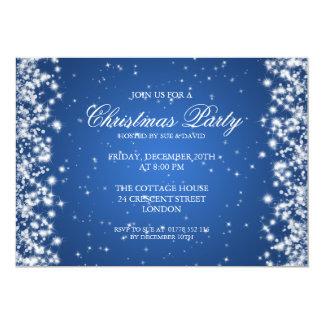 Elegant Party Sparkle Blue 13 Cm X 18 Cm Invitation Card