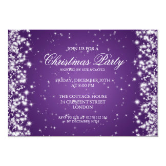 Elegant Party Sparkle Purple Card