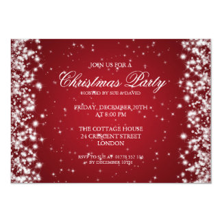 Elegant Party Sparkle Red Card