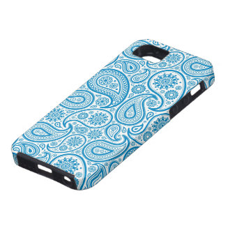 Elegant Pastel Blue & White Vintage Paisley Patter iPhone 5 Cases