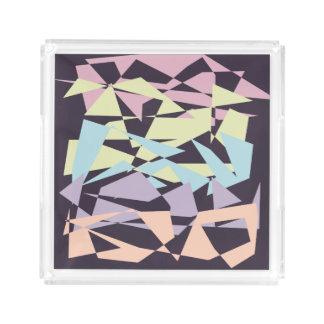elegant pastel color block geometric triangles