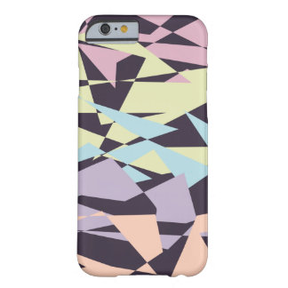 elegant pastel color block geometric triangles barely there iPhone 6 case
