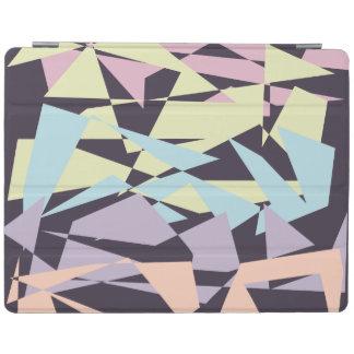 elegant pastel color block geometric triangles iPad cover