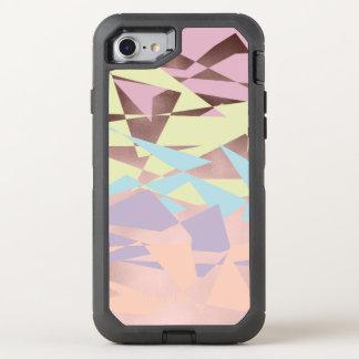 elegant pastel color block rose gold geometric OtterBox defender iPhone 8/7 case