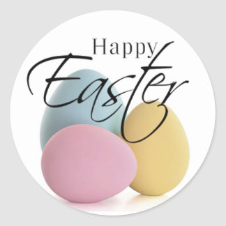 Elegant Pastel Easter Egg Stickers