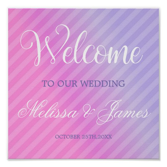 Elegant Pastel Pink Lilac Reception Sign