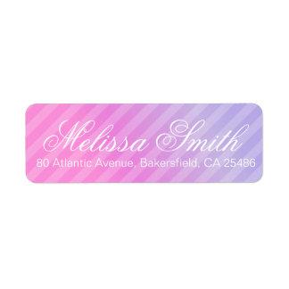 Elegant Pastel Pink Lilac Wedding RSVP Label
