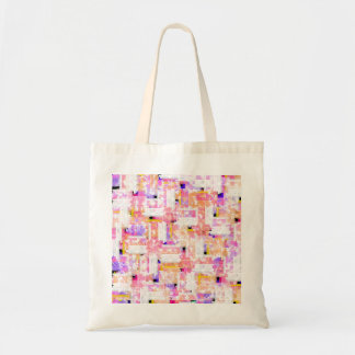 Elegant Pastel Pink, Orange, and Blue Watercolor Tote Bag