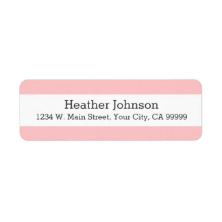 Elegant Pastel Pink Stripes Pattern Return Address Label