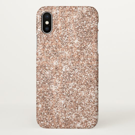 Elegant Pastel Rose Gold Glitter Chic Zazzle iPhone