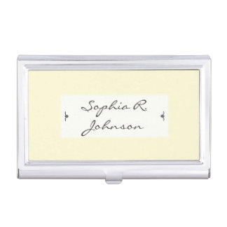 Elegant Pastel Yellow Business Card Holders