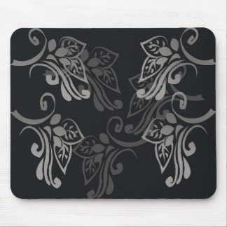 Elegant_patterns_black_flowers_swirls_designs Mouse Pads