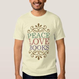 Elegant Peace, Love, Books Shirt