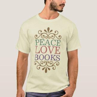Elegant Peace, Love, Books T-Shirt