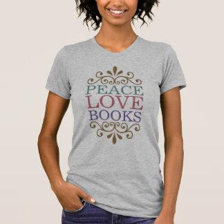 Elegant Peace, Love, Books Women's (Light) T Shirts