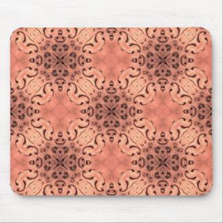 Elegant peach kaleidoscope mouse mat