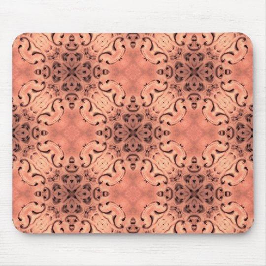 Elegant peach tones baroque mouse mat