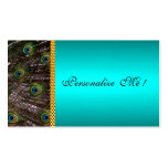 Elegant Peacock Card Save the Date Mint Green Cool Pack Of Standard Business Cards