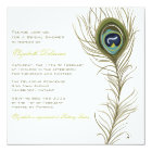 Elegant Peacock Feather Bridal Shower Invitation