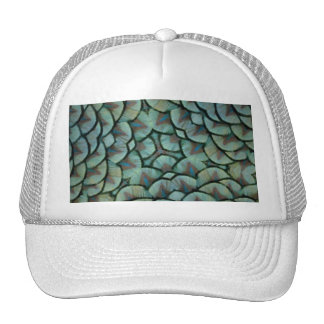 Elegant Peacock Feathers Kaleidoscope Trucker Hat