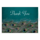 Elegant Peacock Feathers Thank You Card