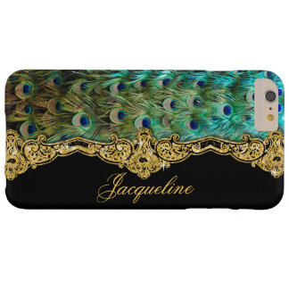 Elegant Peacock Feathers Vintage Baroque Rococo Barely There iPhone 6 Plus Case