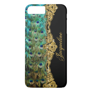 Elegant Peacock Feathers Vintage Baroque Rococo iPhone 8 Plus/7 Plus Case