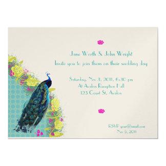 Elegant Peacock invite
