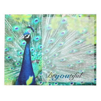 Elegant Peacock Notepad