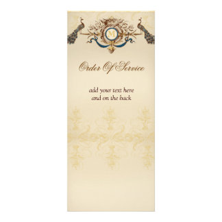 Elegant Peacock Wedding Ceremony Programs Custom Invitation