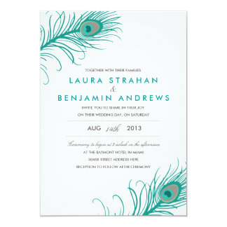 Elegant Peacock Wedding Invitation