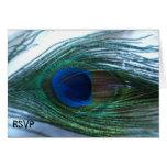 Elegant Peacock Wedding RSVP Note Card
