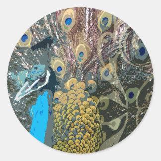 Elegant Peacock Wedding Stickers