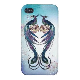 Elegant Peacocks Fantasy Art iPhone 4/4S Cover