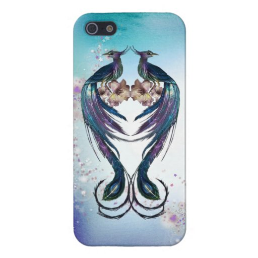 Elegant Peacocks Fantasy Art Covers For iPhone 5