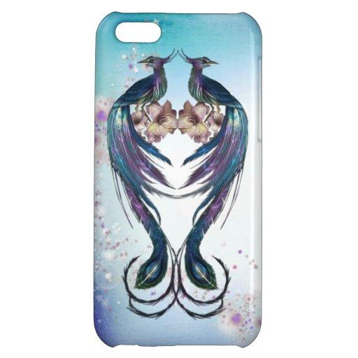 Elegant Peacocks Fantasy Art iPhone 5C Case