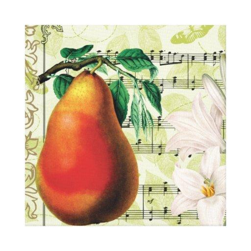 Elegant Pear Canvas Print