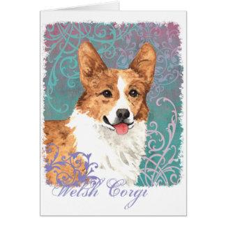Elegant Pembroke Welsh Corgi Card