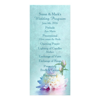 ELEGANT PEONIES - WEDDING PROGRAM CUSTOMISED RACK CARD