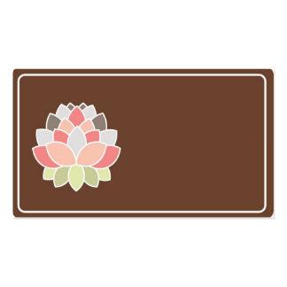 Elegant peony business cards