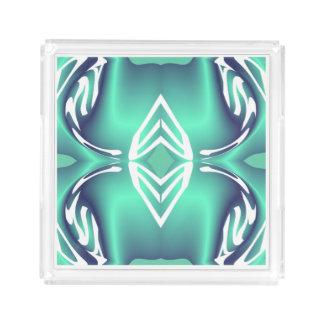 Elegant Perfume Tray for Women -Blue/White/Aqua