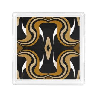 Elegant Perfume Tray -White/Black/Gold/Tan/Beige