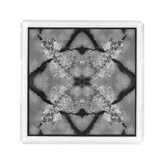 Elegant Perfume Tray - Women--Black/White/Gray